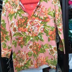 Isaac Mizrahi Flowered Cardigan. Like New